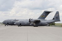 C-130J Super Hercules with a C-17 Globemaster Fine-Art Print