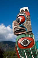 Totem poles, Gold River, Vancouver, British Columbia Fine-Art Print