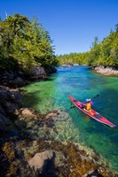 British Columbia, Vancouver Island, Sea kayakers Fine-Art Print