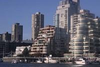 Vancouver Skyline From Granville Island, British Columbia, Canada Fine-Art Print