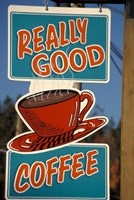 Coffee Sign on Vancouver Island, British Columbia, Canada Fine-Art Print