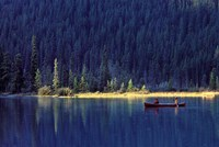 Fishing on Waterfowl Lake, Banff National Park, Canada Fine-Art Print