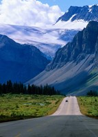 Road into the Mountains of Banff National Park, Alberta, Canada Fine-Art Print