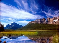 Waterfowl Lake and Rugged Rocky Mountains, Banff National Park, Alberta, Canada Fine-Art Print