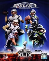 Super Bowl XLIX Seattle Seahawks Vs. New England Patriots Match Up Composite Fine-Art Print