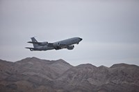 A KC-135 Stratotanker Takes off from Nellis Air Force Base, Nevada Fine-Art Print