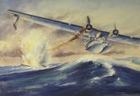 A Damaged PBY Catalina Aircraft after the Attack and Sinking of a German U-boat Fine-Art Print