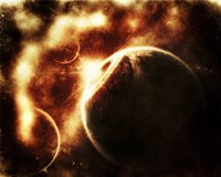 Apocalyptic View of a Solar System Fine-Art Print