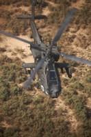 An AH-64D Apache Flying over Northern Iraq Fine-Art Print