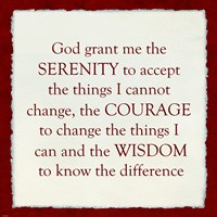 Serenity Prayer - Red Border Fine-Art Print