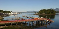 Dock and harbor, Tofino, Vancouver Island, British Columbia Fine-Art Print