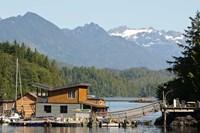 British Columbia, Vancouver Island, Tofino, Floating houses Fine-Art Print
