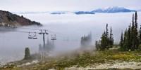 British Columbia, Chairlift on Whistler Mountain Fine-Art Print