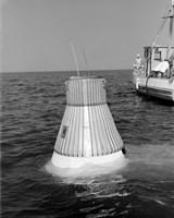 A Model of the Mercury Capsule undergoes Floatation Tests Fine-Art Print