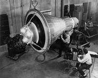 Engineers Inspect and Test a Boilerplate Mercury Space Capsule Fine-Art Print