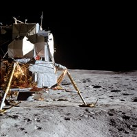 View of the Apollo 14 Lunar Module on the Moon Fine-Art Print
