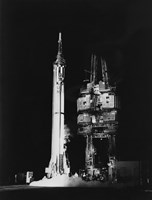 Mercury-Redstone 3 Missile on Launch Pad, Cape Canaveral, Florida Fine-Art Print
