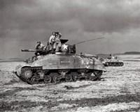 American Sherman tank units, 1944 Fine-Art Print