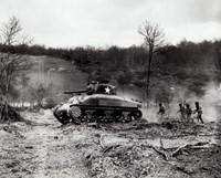 American Sherman tank units, 1943 Fine-Art Print