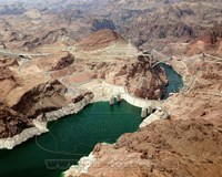 Aerial view of the Hoover Dam- Arizona Fine-Art Print