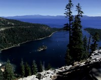 Emerald Bay lies near South Lake Tahoe, California Fine-Art Print