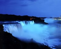 Niagara Falls at night, Niagara Falls, New York Fine-Art Print