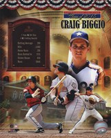 Craig Biggio MLB Hall of Fame Legends Composite Fine-Art Print