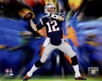 Tom Brady Motion Blast Fine-Art Print