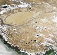 Satellite View of the Tibetan Plateau Fine-Art Print