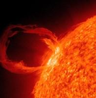 Close-up of a Solar Eruptive Prominence Fine-Art Print