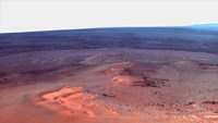 False Color Mosaic of Greeley Haven on Mars Fine-Art Print