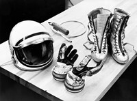 Components of the Mercury Spacesuit Included Gloves, Boots and a Helmet Fine-Art Print