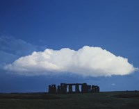 A Large Cloud over Stonehenge, Wiltshire, England Fine-Art Print