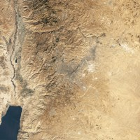 Natural-color Satellite view of Amman, Jordan Fine-Art Print