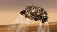 The Rover and Descent Stage for NASA's Mars Science Laboratory Spacecraft Fine-Art Print