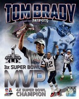 Tom Brady Super Bowl XLIX MVP Portrait Plus Fine-Art Print