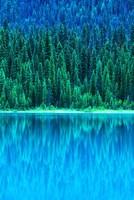 Emerald Lake Boathouse, Yoho National Park, British Columbia, Canada (vertical) Fine-Art Print