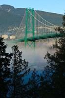 British Columbia, Vancouver, Lion's Gate Bridge over Fog Fine-Art Print