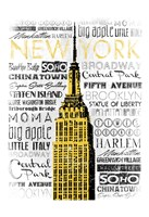 New York - Yellow Fine-Art Print