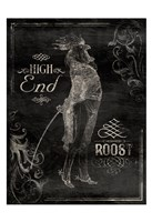 High End Rooster Cream (vertical black) Fine-Art Print