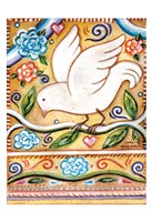 White  Bird 1 with Border Fine-Art Print