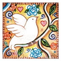 White Bird 2 Square Fine-Art Print