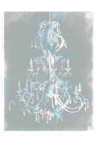 Blue Grey Chandelier Fine-Art Print