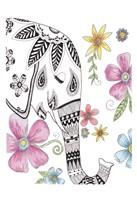Tribal Elephant Portrait Fine-Art Print