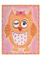 Orange Owl Fine-Art Print