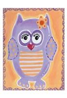 Purple Owl Fine-Art Print