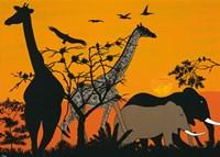 Sunset in Tsavo East Fine-Art Print