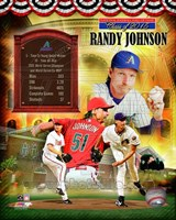 Randy Johnson MLB Hall of Fame Legends Composite Fine-Art Print
