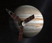 Artist's Concept of the Juno Spacecraft in Orbit around Jupiter Fine-Art Print