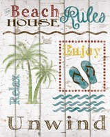 Beach House Rules Fine-Art Print